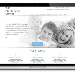 The Kensington Dentist website