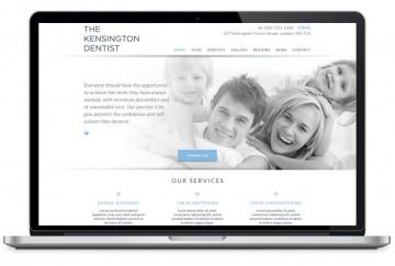 The Kensington Dentist website