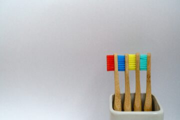 Four Colourful Toothbrushes